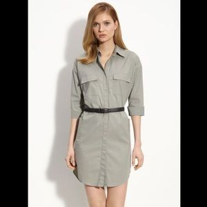 THEORY Sage Green Meliba Shirt Dress Size 2